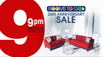 Rooms to Go 26th Anniversary Sale TV Spot, 'Last Five Days' - Thumbnail 2