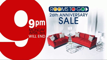 Rooms to Go 26th Anniversary Sale TV Spot, 'Last Five Days' - Thumbnail 3
