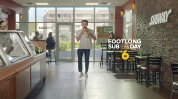 Subway $6 Footlong Sub of the Day TV Spot, 'Dancing Feet'