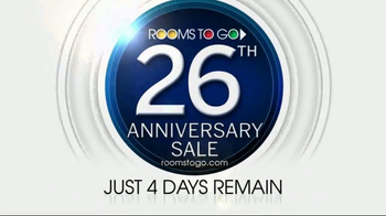 Rooms to Go 26th Anniversary Sale TV Spot, 'Four Days Remain' - Thumbnail 9