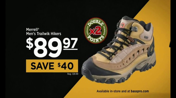 Bass Pro Shops TV Spot, 'Double Rewards Points: Henley, Hikers and Reel' - Thumbnail 6