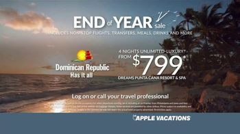Apple Vacations End of Year Sale TV Spot, 'Time: Dominican Republic' - Thumbnail 7
