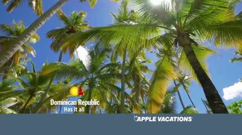 Apple Vacations End of Year Sale TV Spot, 'Time: Dominican Republic' - Thumbnail 4