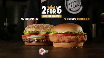 Burger King 2 for $6 TV Spot, 'Mix or Match: Sandwiches'