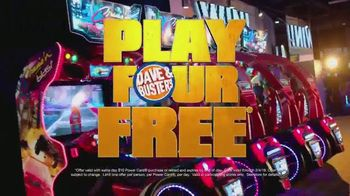 Dave and Buster's TV Spot, 'Holidays: Play Four Games Free'