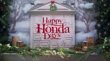 Happy Honda Days TV Spot, 'Holiday Road Trip: 2018 Fit' [T2] - Thumbnail 1