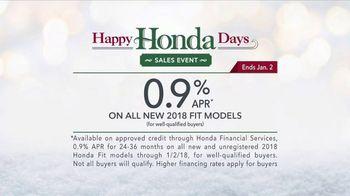 Happy Honda Days TV Spot, 'Holiday Road Trip: 2018 Fit' [T2] - Thumbnail 9