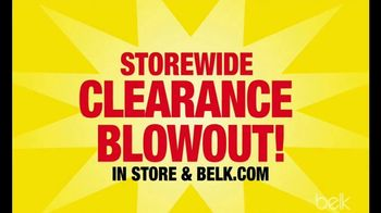 Belk Storewide Clearance Blowout TV Spot, \'New Styles and Deeper Discounts\'