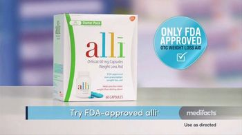 Alli TV Spot, 'Medifacts: Only FDA-Approved Weight Loss Aid' - Thumbnail 4