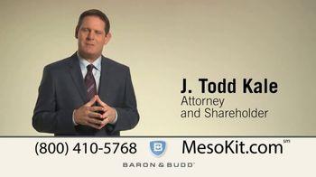 Baron & Budd, P.C. TV Spot, 'Mesothelioma Kit'