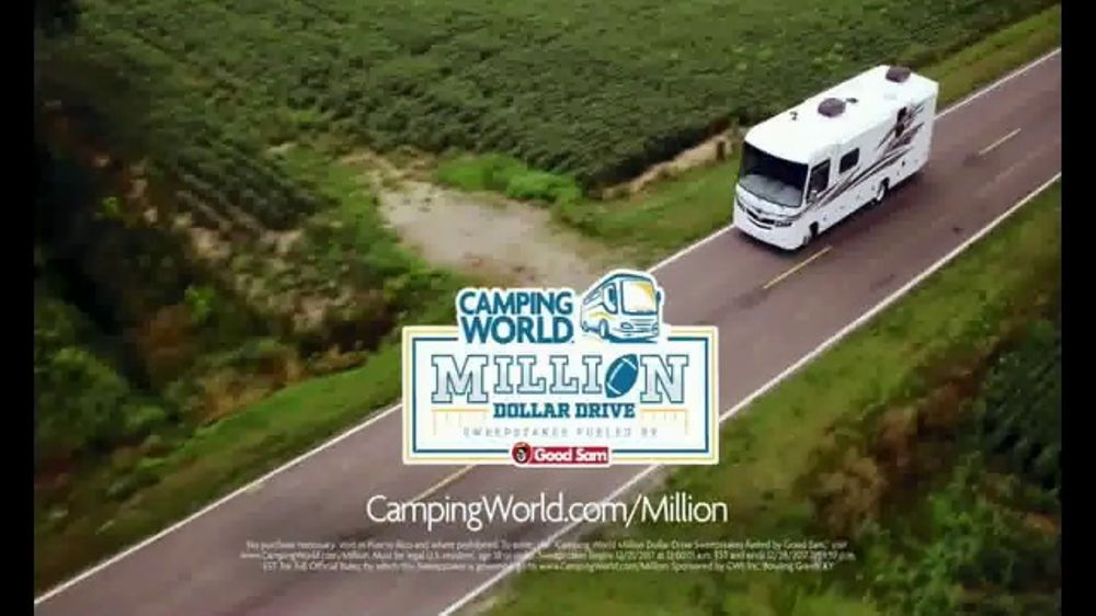 Camping World TV Commercial, 'Game Day: Million Dollar Drive Sweepstakes' -  Video