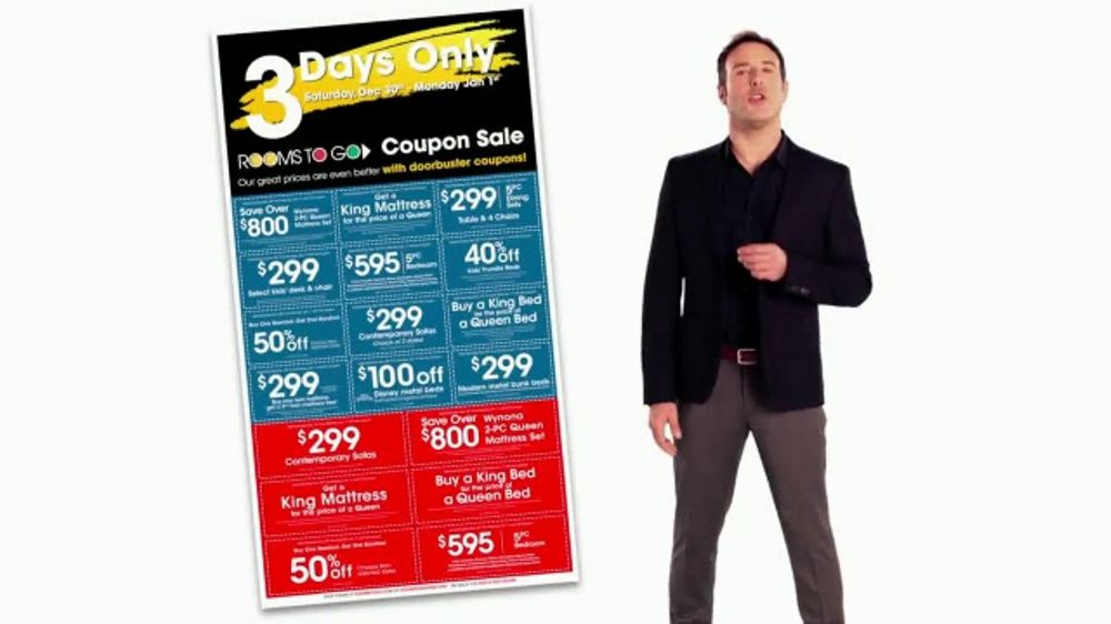 Rooms to Go Coupon Sale TV Commercial, \'Three Days Only\' - iSpot.tv