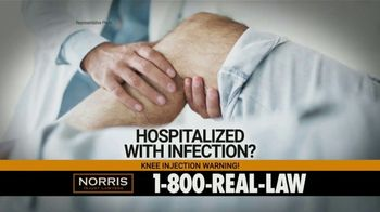 Norris Injury Lawyers TV Spot, 'Knee Injection Syringes'