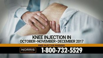 Norris Injury Lawyers TV Spot, 'Knee Injection Syringes' - Thumbnail 2