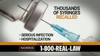 Norris Injury Lawyers TV Spot, 'Knee Injection Syringes' - Thumbnail 4