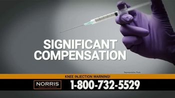 Norris Injury Lawyers TV Spot, 'Knee Injection Syringes' - Thumbnail 7