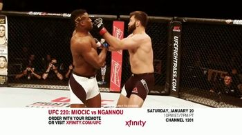 UFC 220 TV Spot, 'XFINITY: Miocic vs. Ngannou' - 33 commercial airings