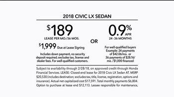 2018 Honda Civic TV Spot, 'Stand Out' [T2] - Thumbnail 8