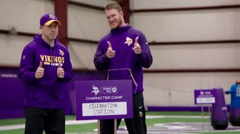 NFL Character Playbook TV Spot, 'Vikings Training Camp' Feat. Stefon Diggs - Thumbnail 4