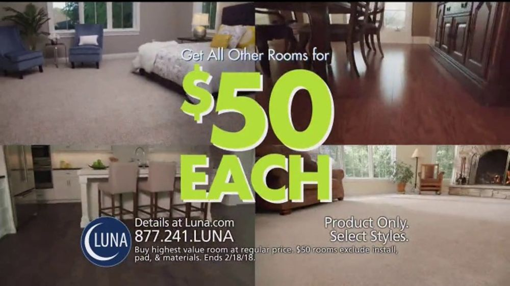 Luna Flooring 50 Room Sale Tv Commercial Update Your Floors