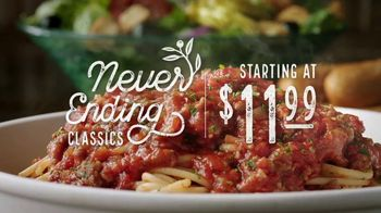 Olive Garden Never Ending Classics TV Spot, 'Mix It Up' - Thumbnail 3