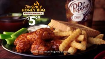 Zaxby's Spicy Honey BBQ Boneless Wings Meal TV Spot, 'Appetite' - Thumbnail 9