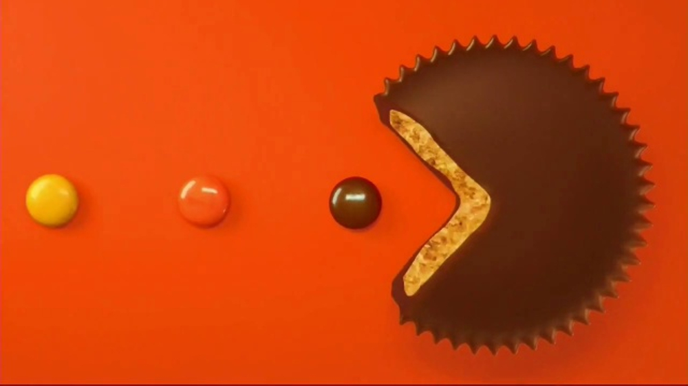 Reeses Pieces Peanut Butter Cups Tv Commercial Pac Man Ispottv