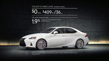 2017 Lexus IS Turbo TV Spot, 'Body Language: Ourspoken' Song by InShape [T2] - Thumbnail 10