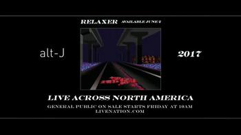 Live Nation TV Spot, '2017 Alt-J Relaxer Tour' - Thumbnail 7
