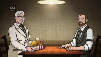 KFC Zinger Sandwich TV Spot, 'FXX: Archer Dreamland' - Thumbnail 2
