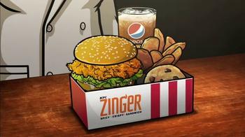 KFC Zinger Sandwich TV Spot, 'FXX: Archer Dreamland' - Thumbnail 3