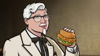 KFC Zinger Sandwich TV Spot, 'FXX: Archer Dreamland' - Thumbnail 4