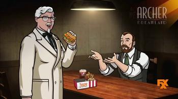 KFC Zinger Sandwich TV Spot, 'FXX: Archer Dreamland' - Thumbnail 7
