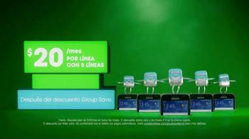Cricket Wireless Group Save TV Spot, 'Recibe más. Ahorra más.' [Spanish] - Thumbnail 3