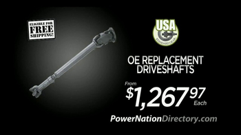 PowerNation Directory TV Spot, 'Engine, Disc Brake, Wheels, Driveshafts' - Thumbnail 5