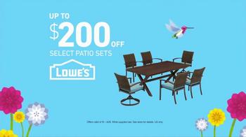 Lowe's Spring Savings TV Spot, 'Grill & Patio Sets' - Thumbnail 6