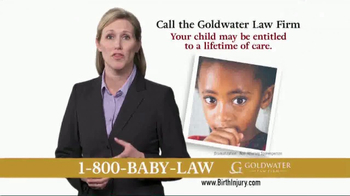 Goldwater Law Firm TV Spot, 'Children With Birth Injuries' - Thumbnail 5
