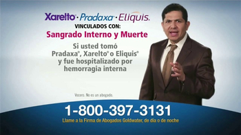 Goldwater Law Firm TV Spot, 'Xarelto, Pradaxa, Eliquis' [Spanish] - Thumbnail 2