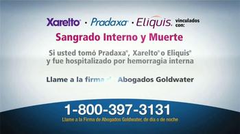 Goldwater Law Firm TV Spot, 'Xarelto, Pradaxa, Eliquis' [Spanish] - Thumbnail 3
