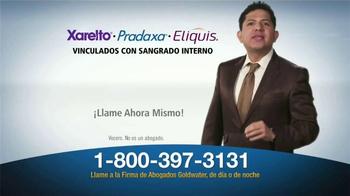 Goldwater Law Firm TV Spot, 'Xarelto, Pradaxa, Eliquis' [Spanish] - Thumbnail 4