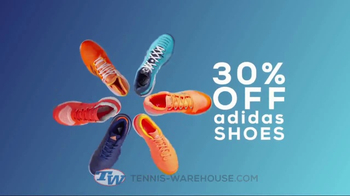 Tennis Warehouse adidas Tennis Shoe Sale TV Spot, 'Up to 30 Percent Off'