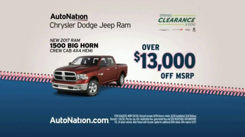 AutoNation Big Hit Event TV Spot, '2017 Ram 1500' - Thumbnail 4