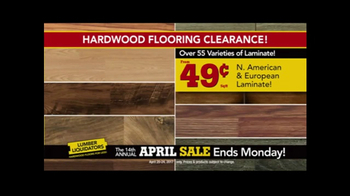 Lumber Liquidators April Sale TV Spot, 'Small Lots' - Thumbnail 1