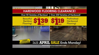 Lumber Liquidators April Sale TV Spot, 'Small Lots' - Thumbnail 2