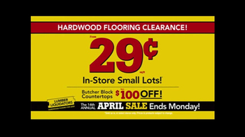 Lumber Liquidators April Sale TV Spot, 'Small Lots' - Thumbnail 4
