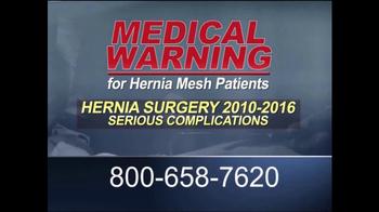 Guardian Legal Network TV Spot, 'Hernia Mesh Patients' - Thumbnail 1
