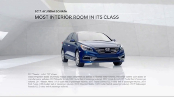 2017 Hyundai Sonata TV Spot, 'More Room' [T2] - Thumbnail 2