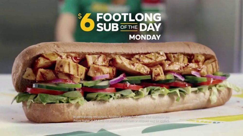 Subway sandwich of the day saturday