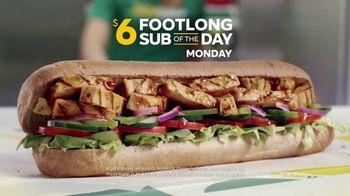 Subway TV Spot, 'Footlong Sub of the Day' - Thumbnail 1