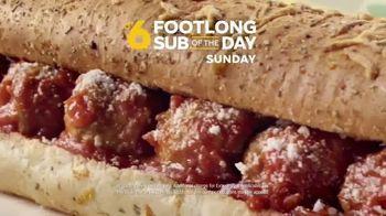 Subway TV Spot, 'Footlong Sub of the Day' - Thumbnail 6